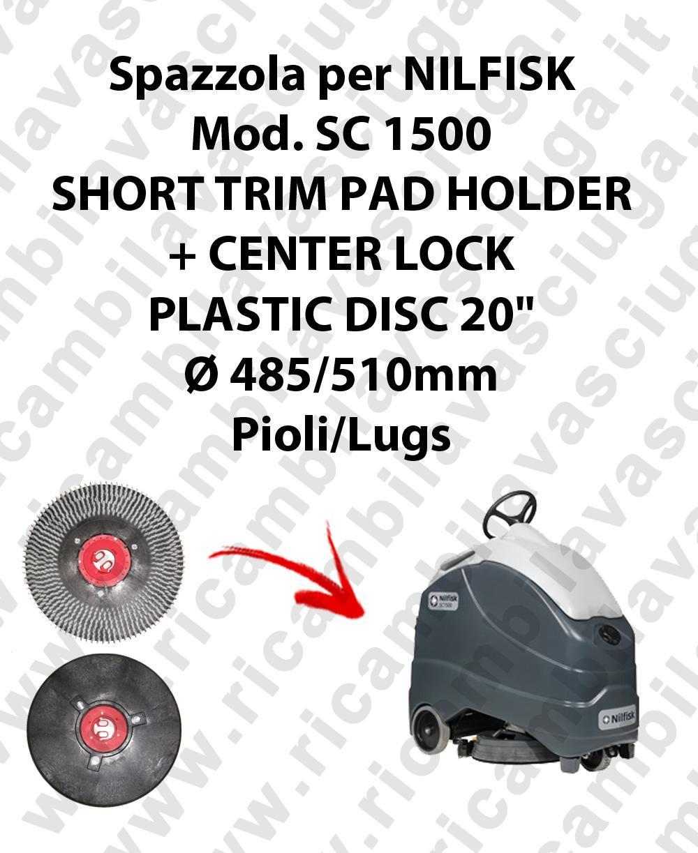 SHORT TRIM PAD HOLDER + CENTERLOCK pour autolaveuses NILFISK mod. SC 1500