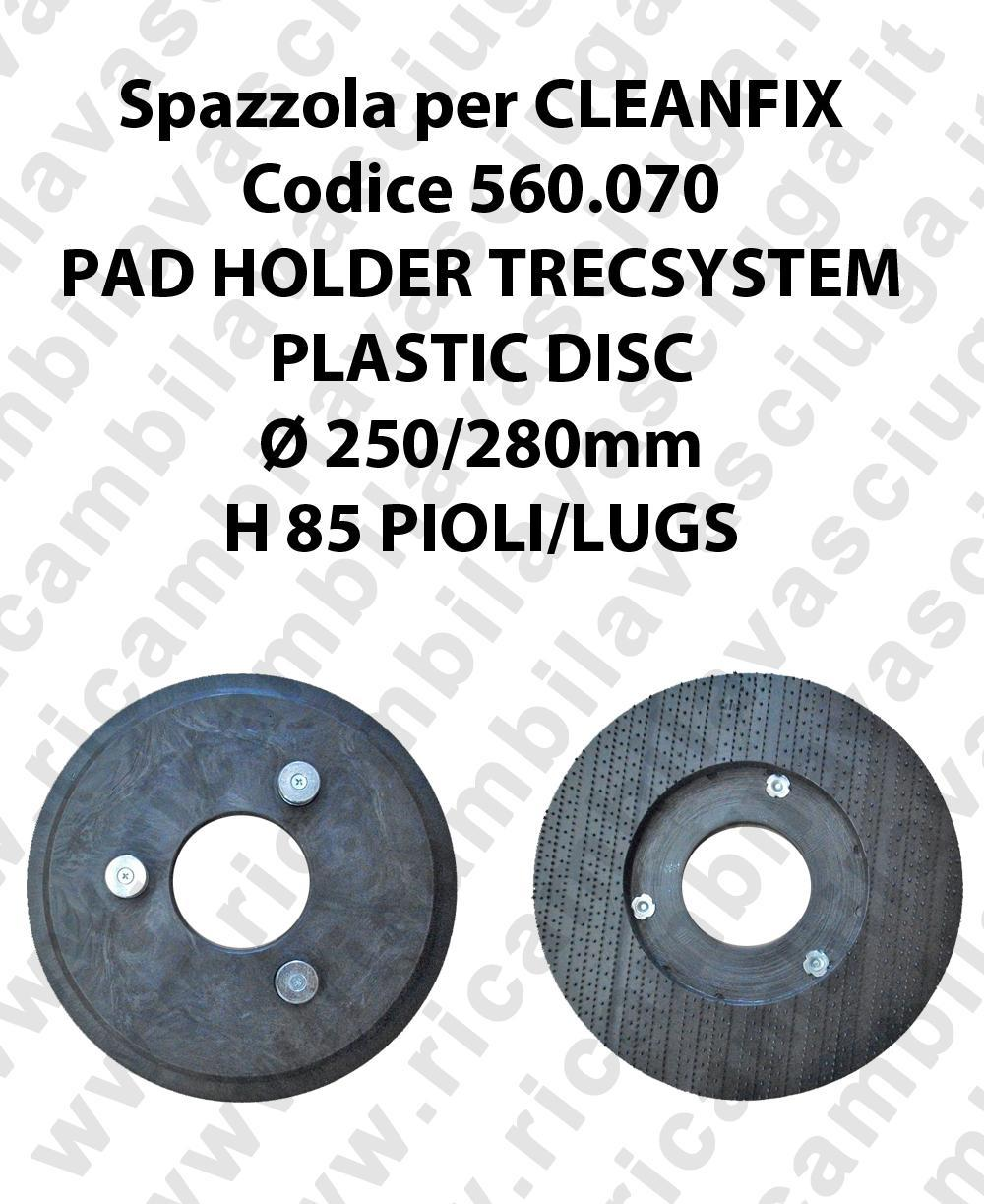 PAD HOLDER TRECSYSTEM  pour autolaveuses CLEANFIX code 560.070