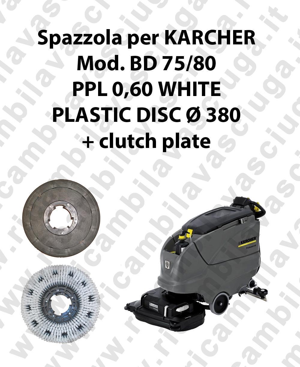 BROSSE A LAVER PPL 0.6 WHITE pour autolaveuses KARCHER Reference BD 75/80