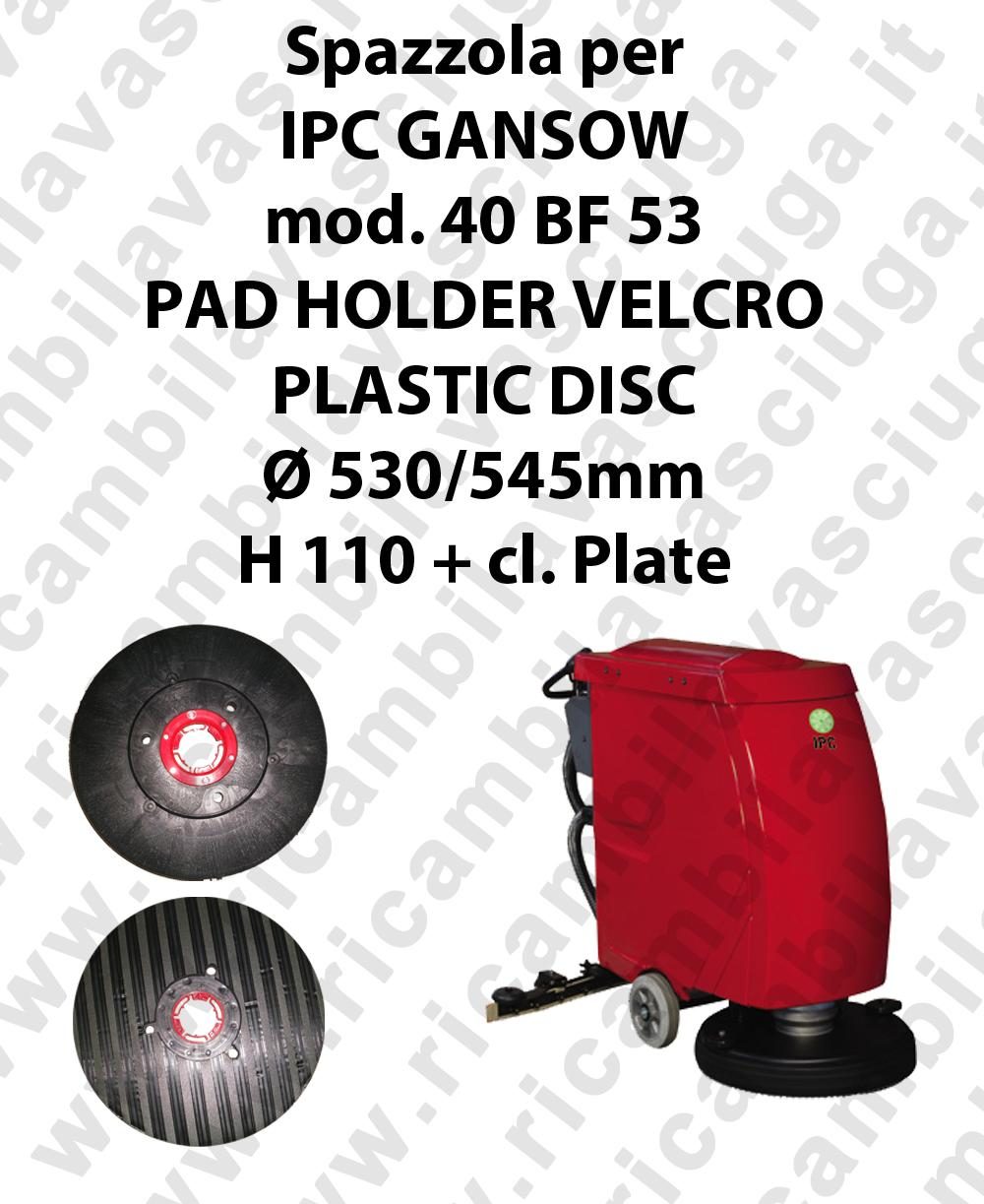 PAD HOLDER VELCRO pour autolaveuses GANSOW Reference 40 BF 53