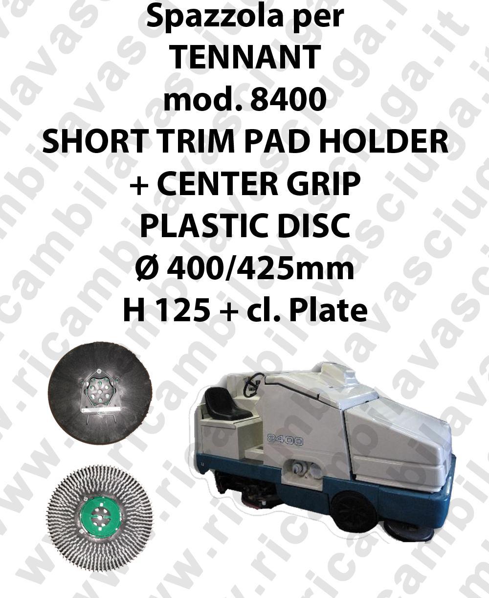 SHORT TRIM PAD HOLDER + CENTER GRIP pour autolaveuses TENNANT Reference 8400
