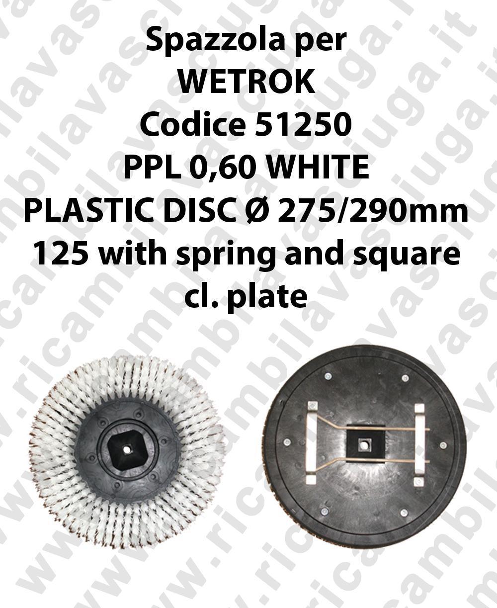 BROSSE A LAVER PPL 0,60 WHITE pour autolaveuses WETROK code 51250