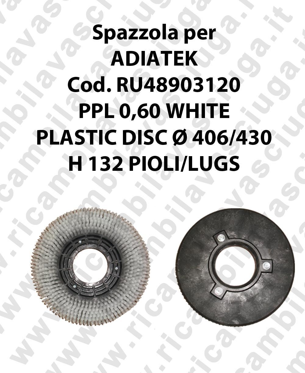 BROSSE A LAVER PPL 0,60 WHITE pour autolaveuses ADIATEK code RU48903120