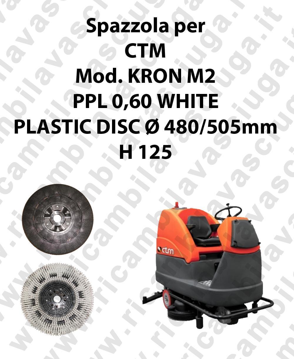 BROSSE A LAVER PPL 0,60 WHITE pour autolaveuses CTM Reference KRON M2