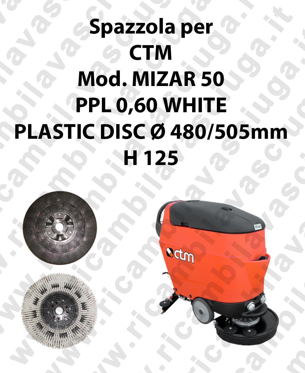BROSSE A LAVER PPL 0,60 WHITE pour autolaveuses CTM Reference MIZAR 50