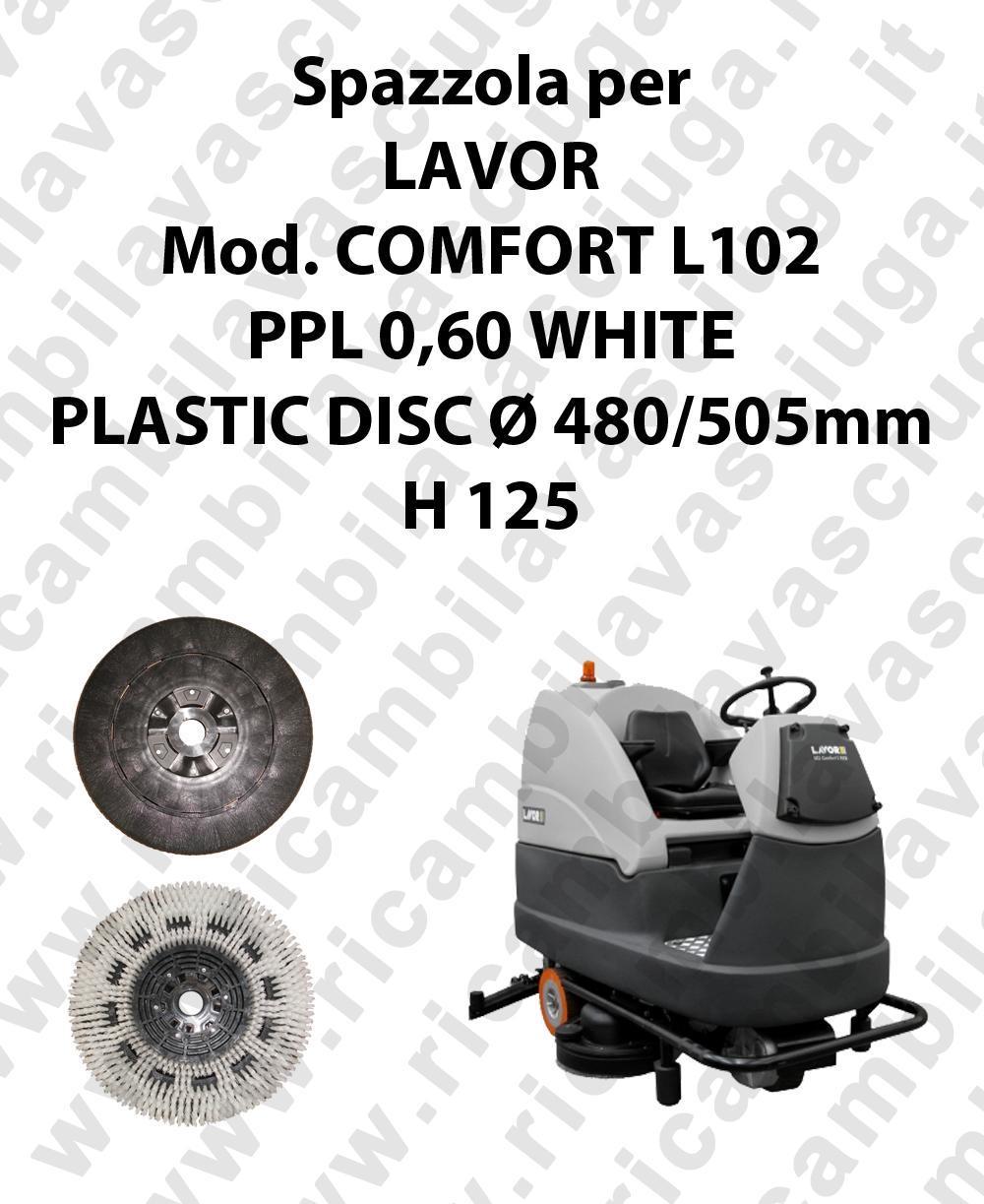 BROSSE A LAVER PPL 0,60 WHITE pour autolaveuses LAVOR Reference COMFORT L102