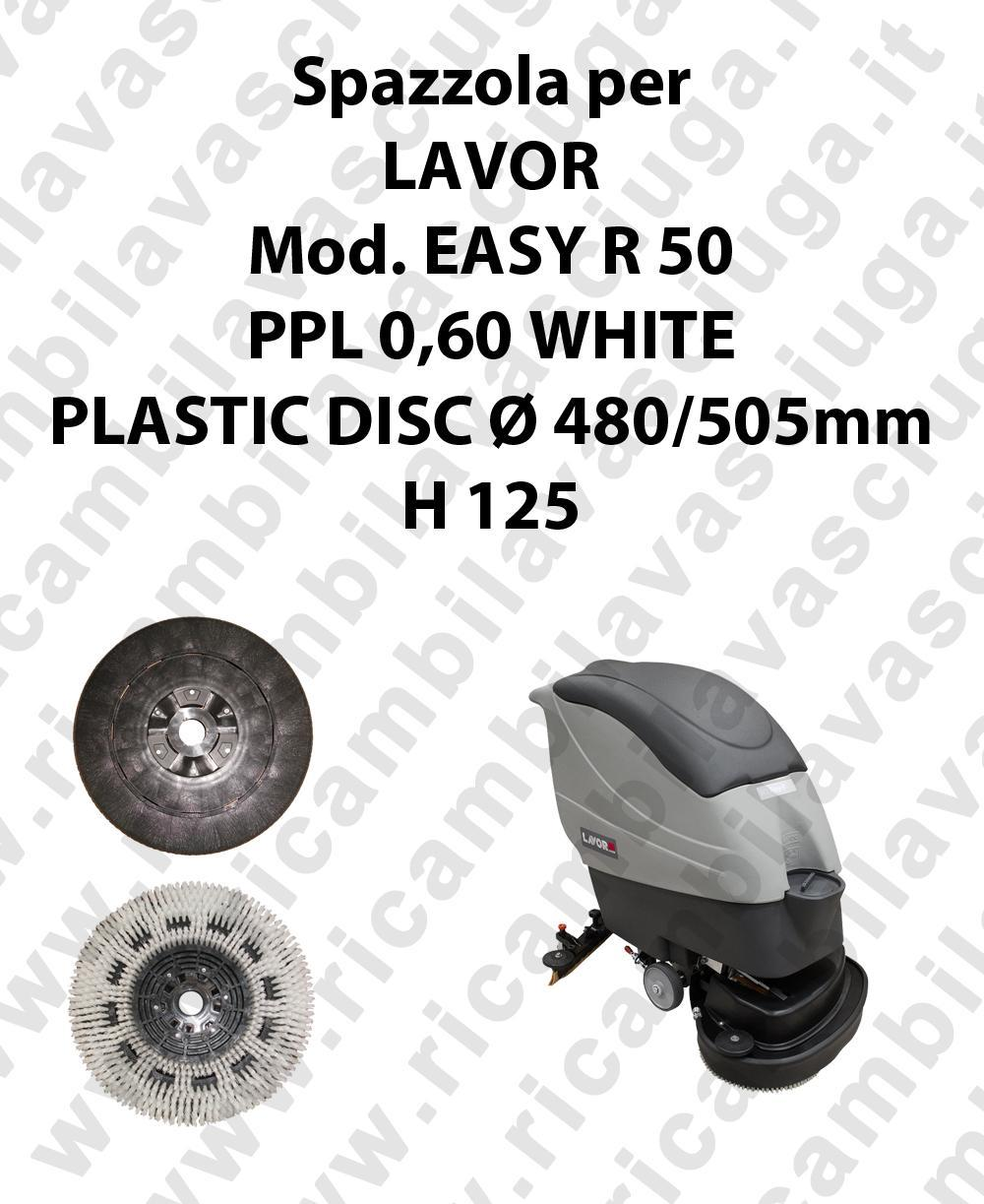 BROSSE A LAVER PPL 0,60 WHITE pour autolaveuses LAVOR Reference EASY R 50