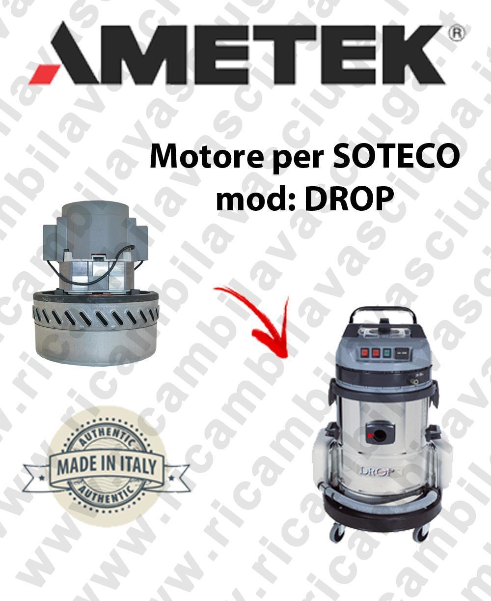 DROP MOTEUR ASPIRATION AMETEK pour aspirateur SOTECO
