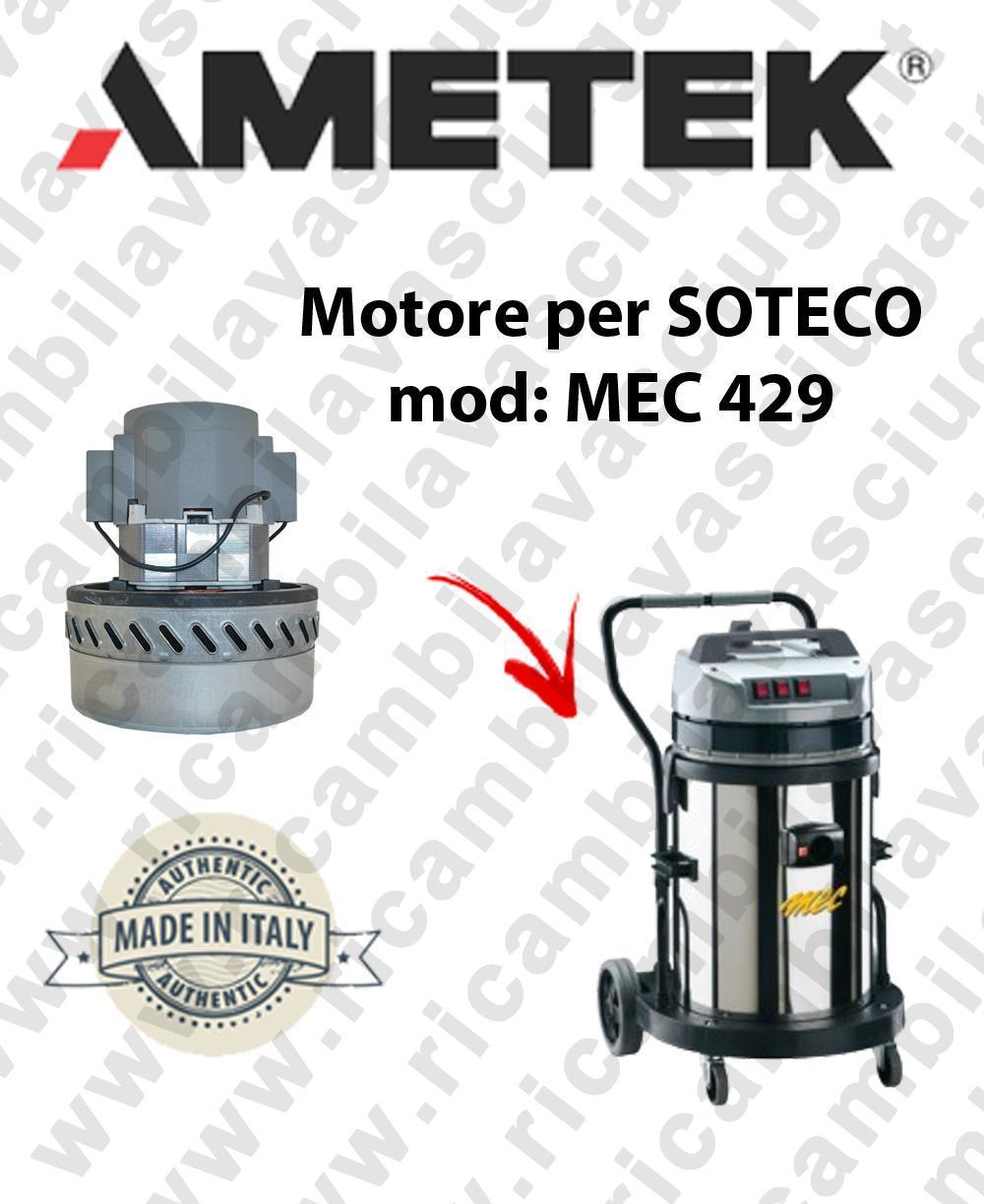 MEC 429 MOTEUR ASPIRATION AMETEK pour aspirateur SOTECO