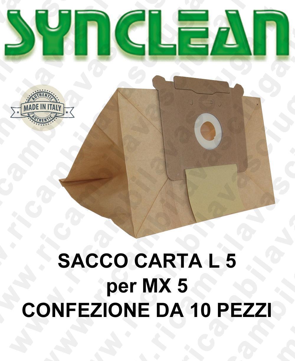 SAC papier litres 5 pour MAXICLEAN mod. MX 5 confezione de 10 piéces