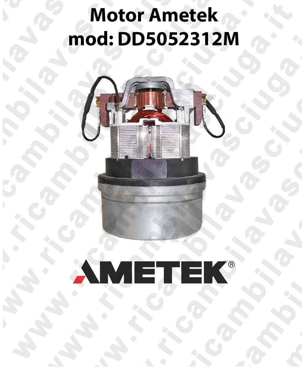MOTEUR ASPIRATION mod. DD5052312M AMETEK pour aspirateur et autolaveuses