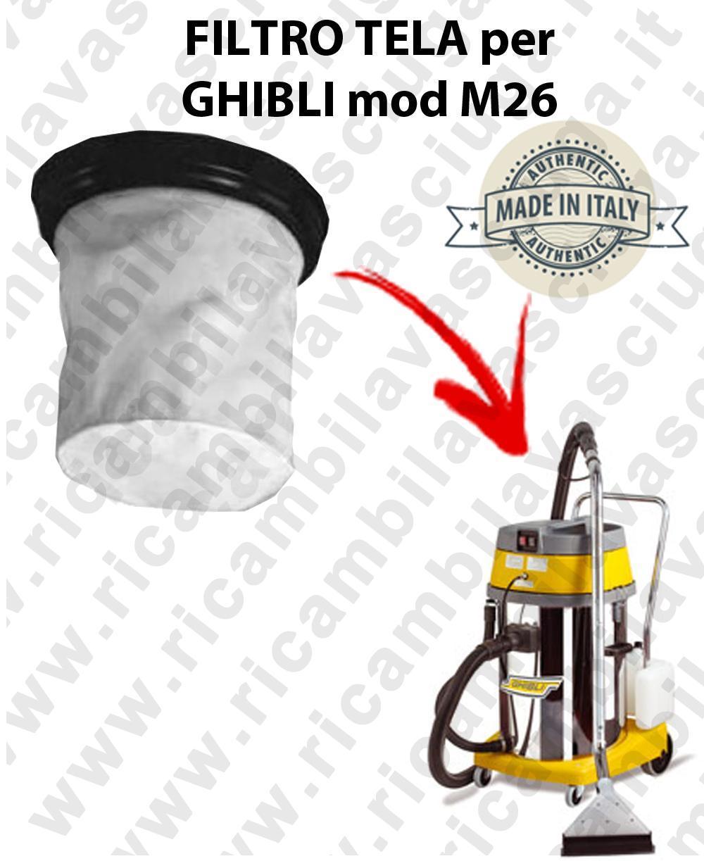 FILTRE TOILE pour aspirateur GHIBLI Reference M26