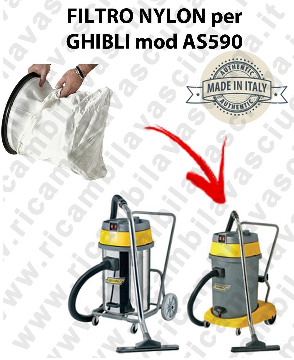 SACFILTRE NYLON cod: 3001220 pour aspirateur GHIBLI Reference AS590
