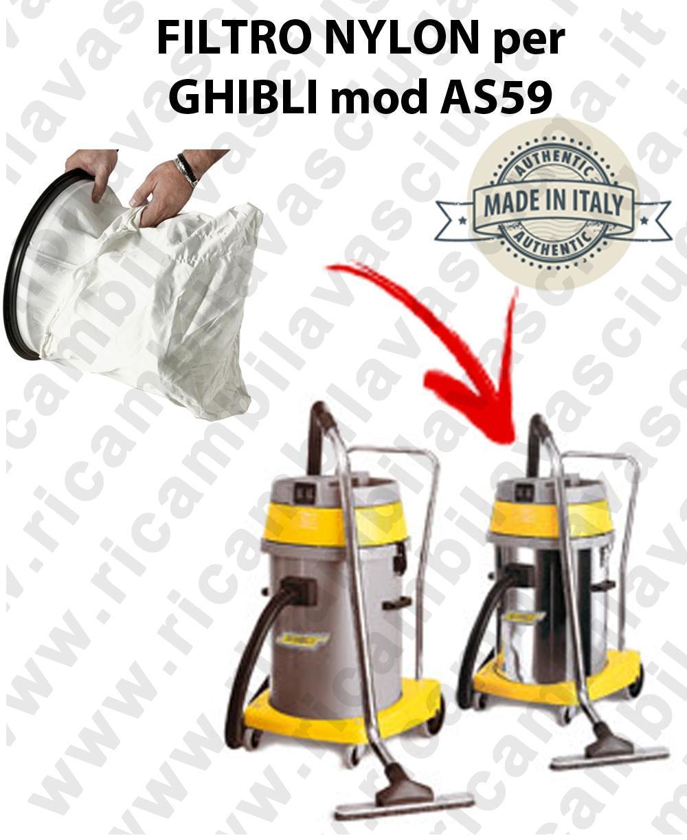 SAC FILTRE cod: 3001220 NYLON pour aspirateur GHIBLI Reference AS59