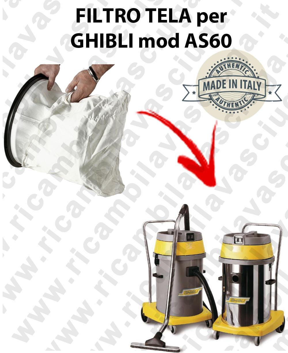 SAC FILTRE NYLON cod: 3001220 pour aspirateur GHIBLI Reference AS60