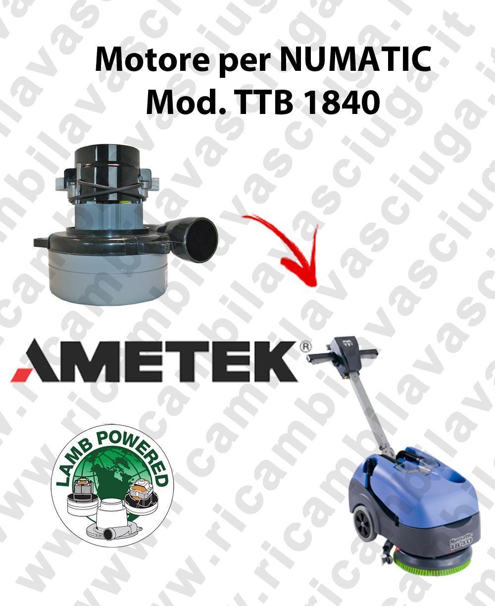 TTB 1840 moteur aspiration AMETEK autolaveuses NUMATIC