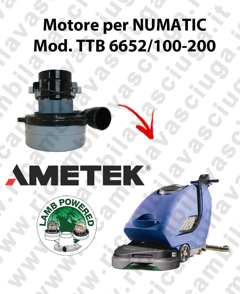TTB 6652/100-200 moteur aspiration AMETEK autolaveuses NUMATIC