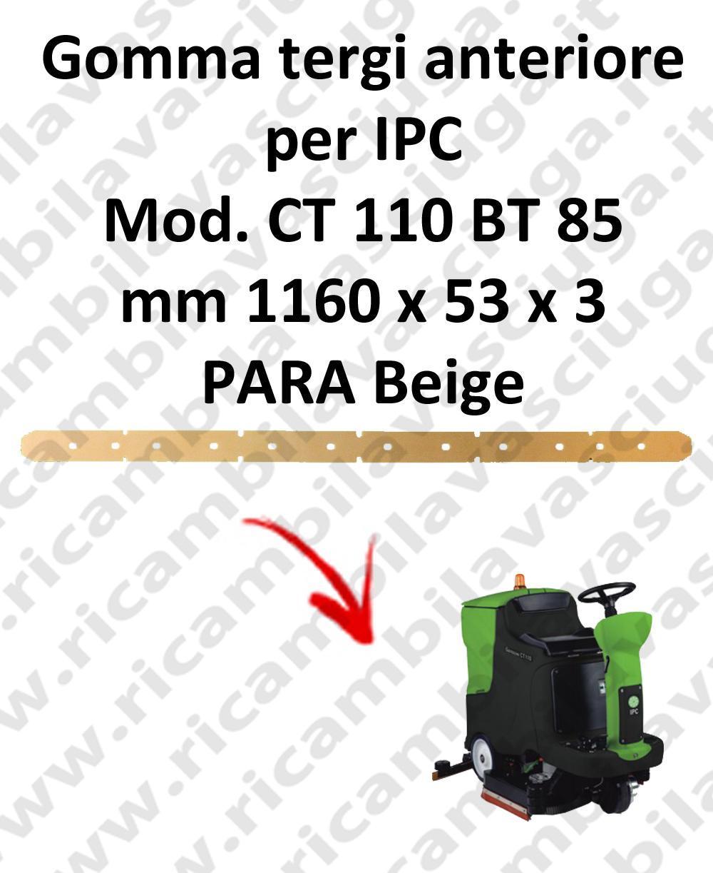 Bavette avant pour autolaveuses IPC modelle CT 110 BT 85
