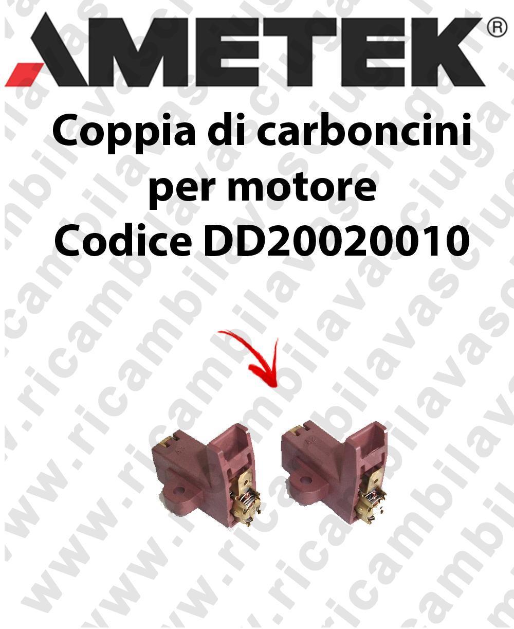 Couple du Carbon moteur aspiration pour moteur Ametek Cod: DD20020010