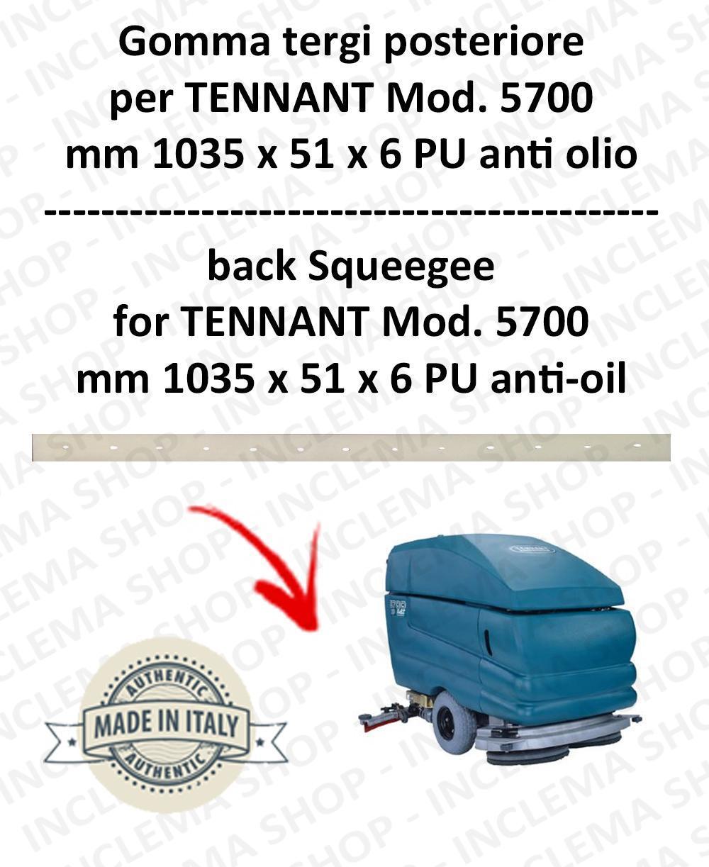 5700 Bavette ARRIERE PU Anti-huile pour autolaveuses TENNANT - suceur 700 mm