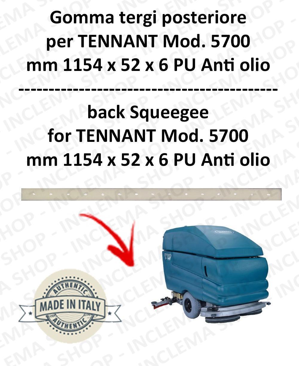 5700 Bavette ARRIERE PU Anti-huile pour autolaveuses TENNANT - suceur 800 mm
