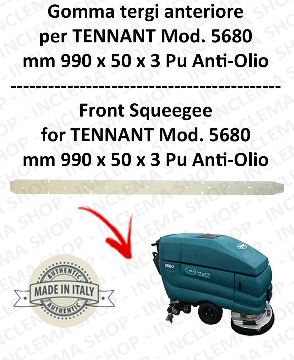 5680 Bavette avant PU Anti-huile pour autolaveuses TENNANT - suceur 700 mm