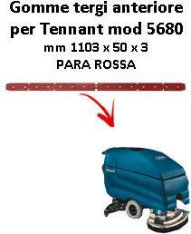 7100 Bavette ARRIERE PARA Rouge pour autolaveuses TENNANT - suceur 800 mm