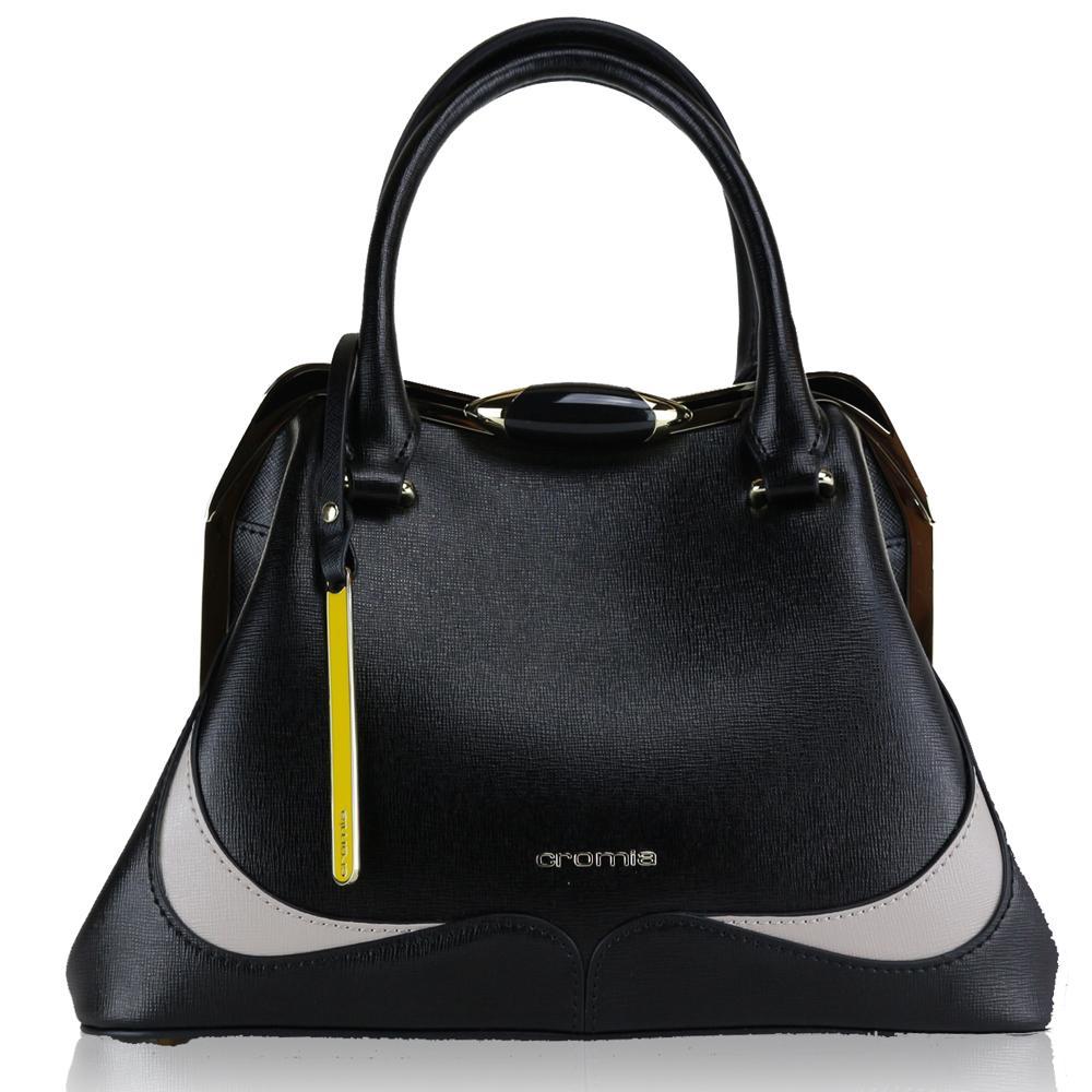 Hand And Shoulder Bag Cromia Wave 1403424 Bronzo Beige Nero