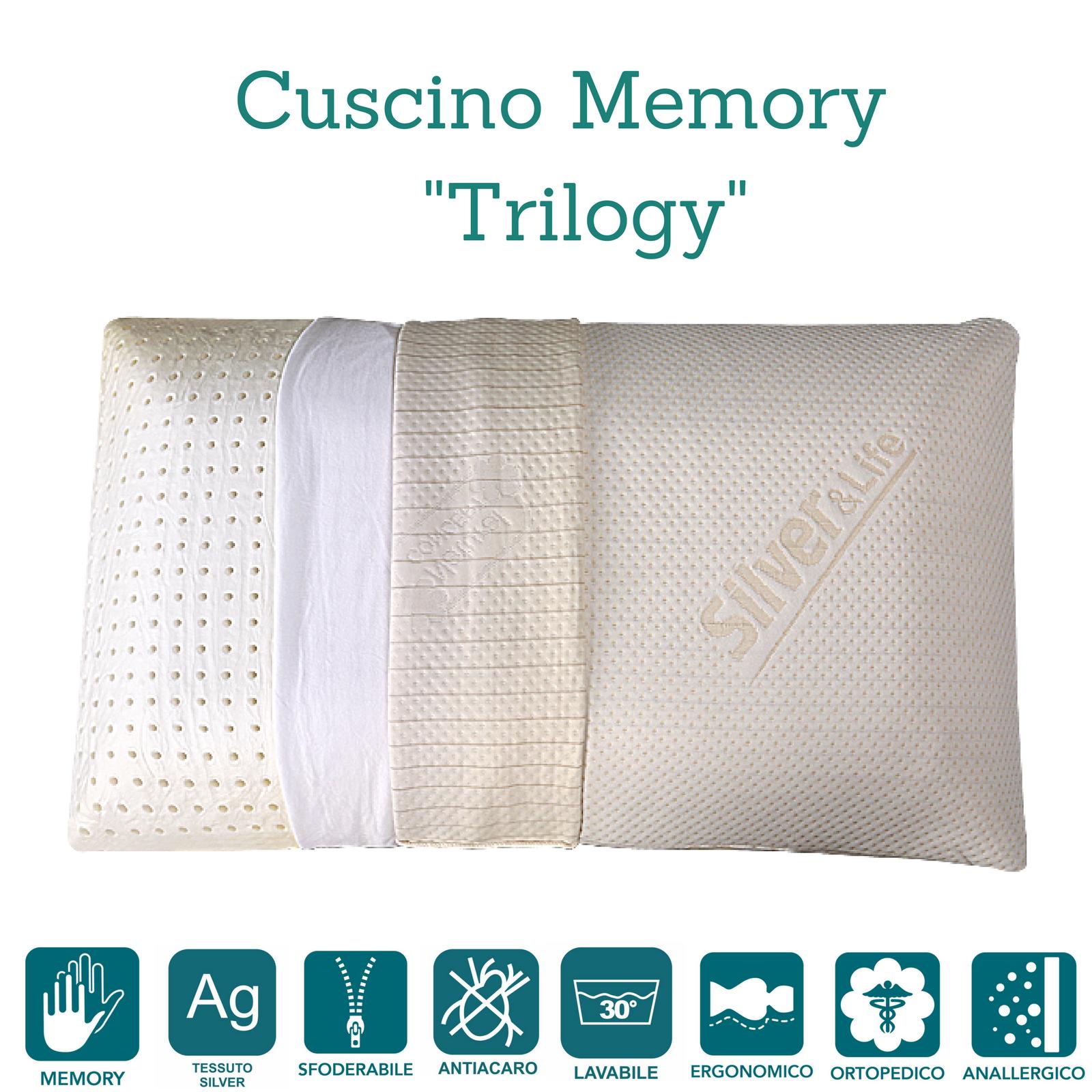 Cuscino Memory Foam Cervicale alto 15 cm \