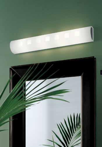 CITY applique specchio cm30 colore arancio LED