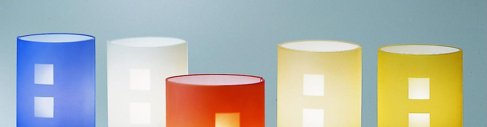 CITY applique specchio cm60 colore arancio LED