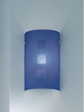 Applique CITY 35 blu E14 LED