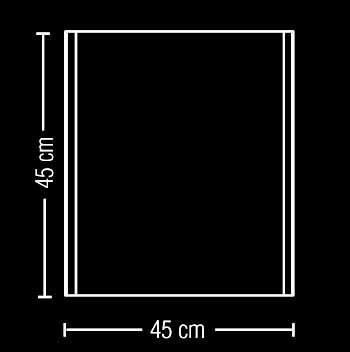 Applique o plafoniera GIOTTO quadrata 45x45 LED