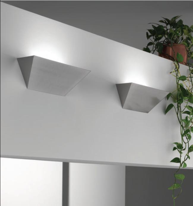 Applique parete HUGO cm35 nichel spazzolato LED|10watt