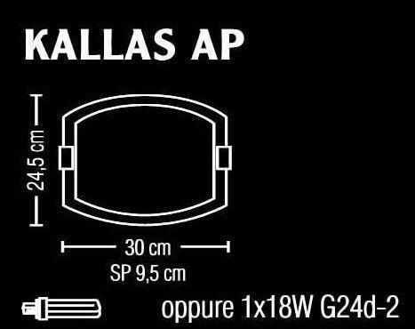 Applique in vetro satinato KALLAS  30x30  LED