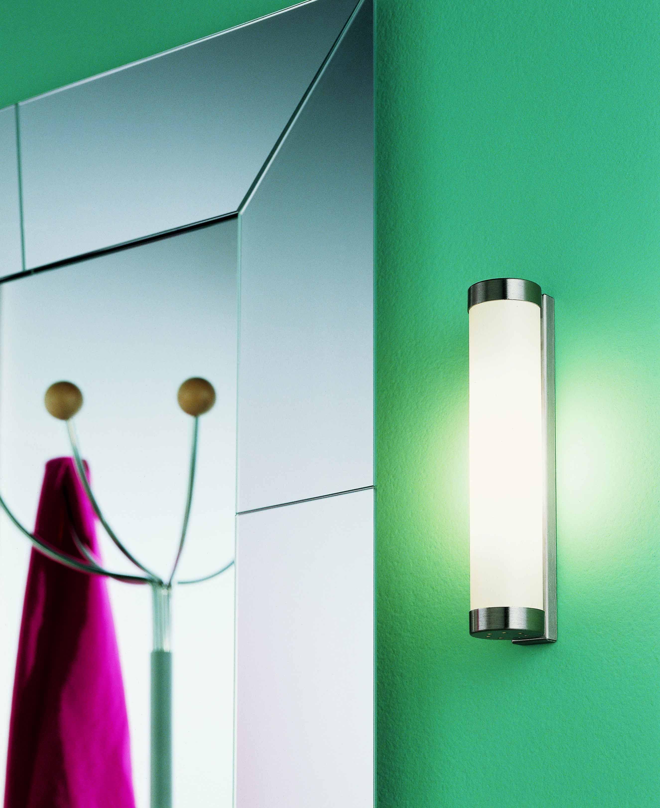 Lampada da specchio NAGA 50 acciaio spazzolato   LED