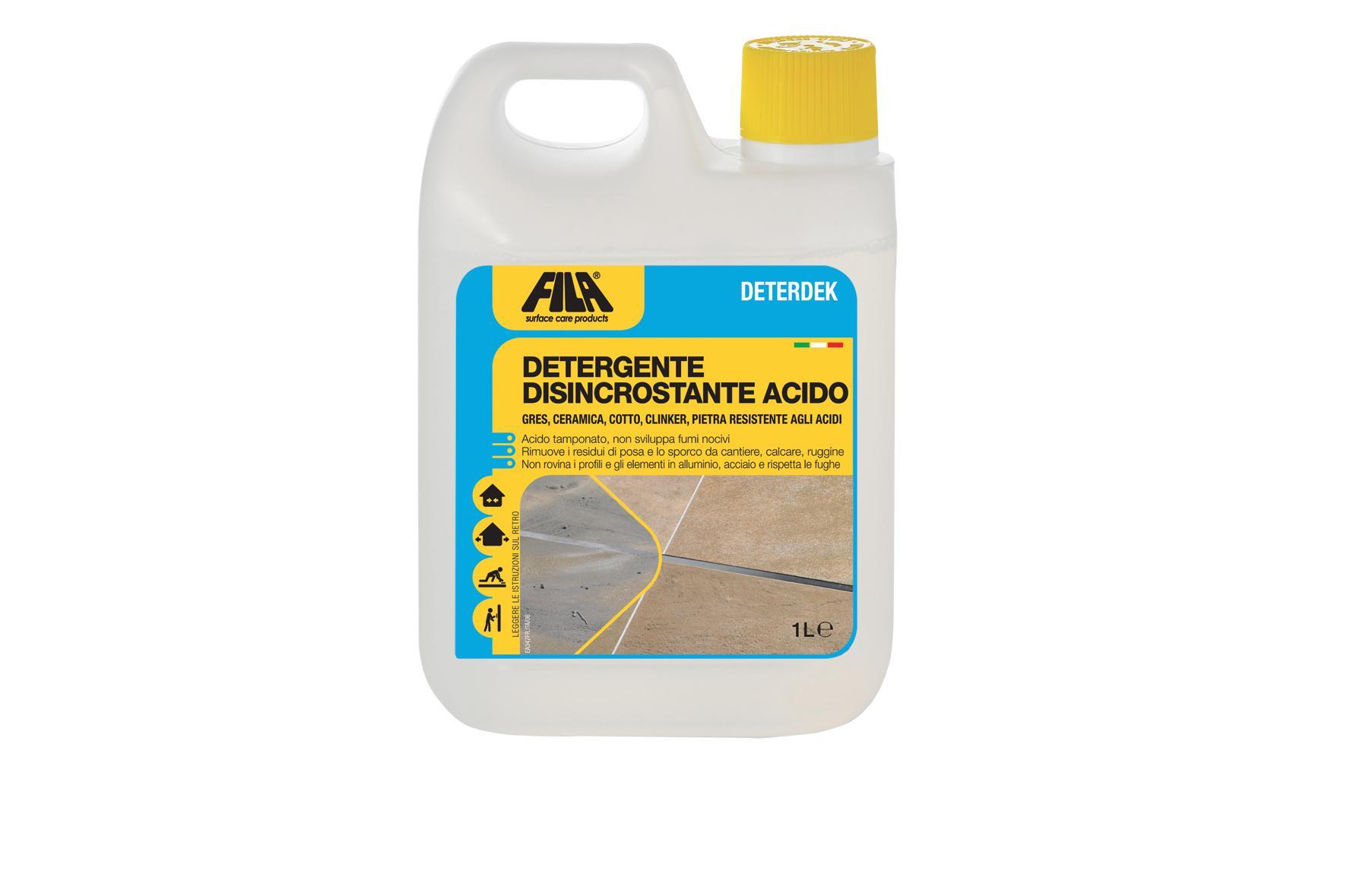 Detergente Per Cotto Esterno detergente disincrostante acido deterdek