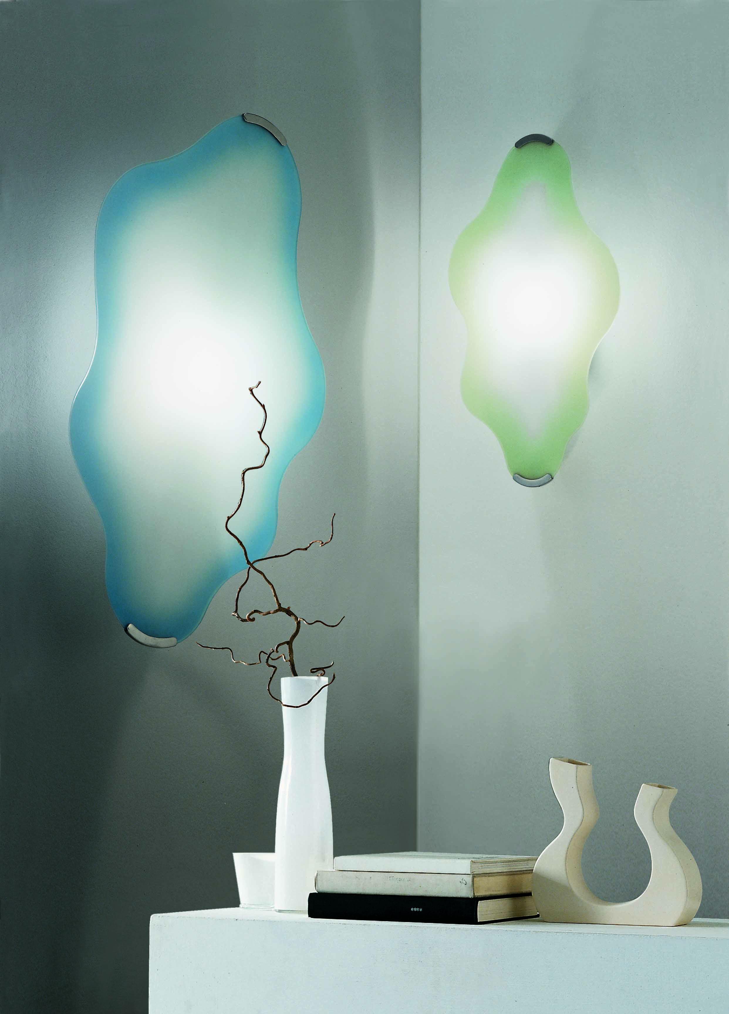 Applique o plafoniera NUVOLA cm45 in vetro verde| LED