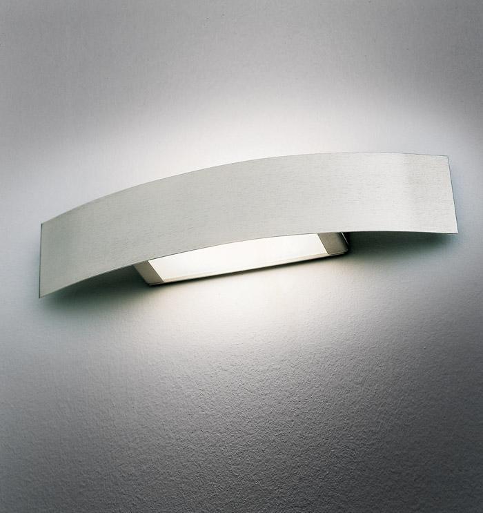 Applique COVER 55 LED acciaio spazzolato
