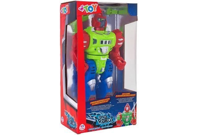 ROBOT CAMMINANTE B/O C/LUCI/SUONI/ROTAZIONE 360 37933 GLOBO