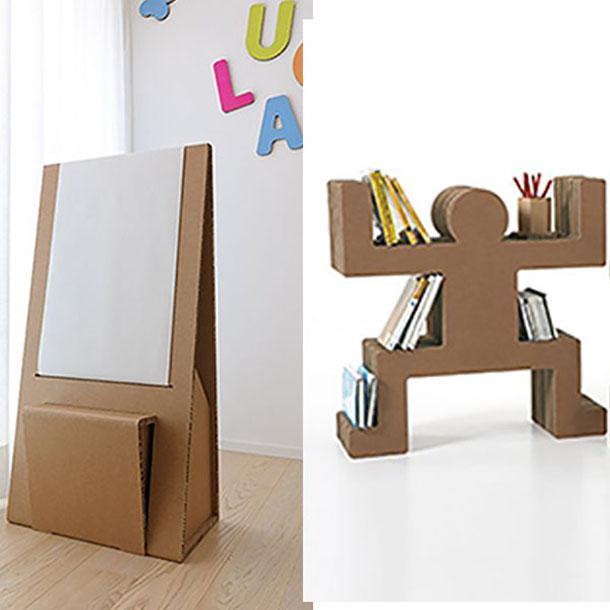 area giochi per bambini in cartone