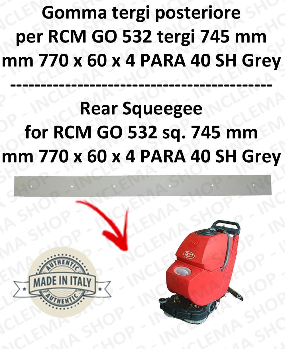 GO 532 suceur long 745 Bavette ARRIERE pour autolaveuses  RCM