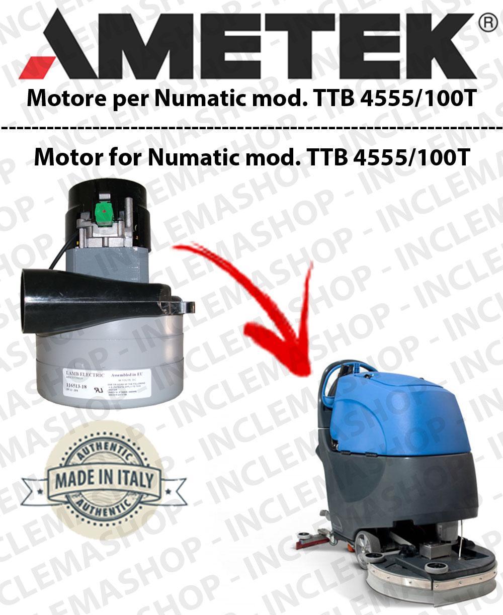 TTB 4555/100T Moteurs aspiration LAMB AMETEK pour autolaveuses NUMATIC