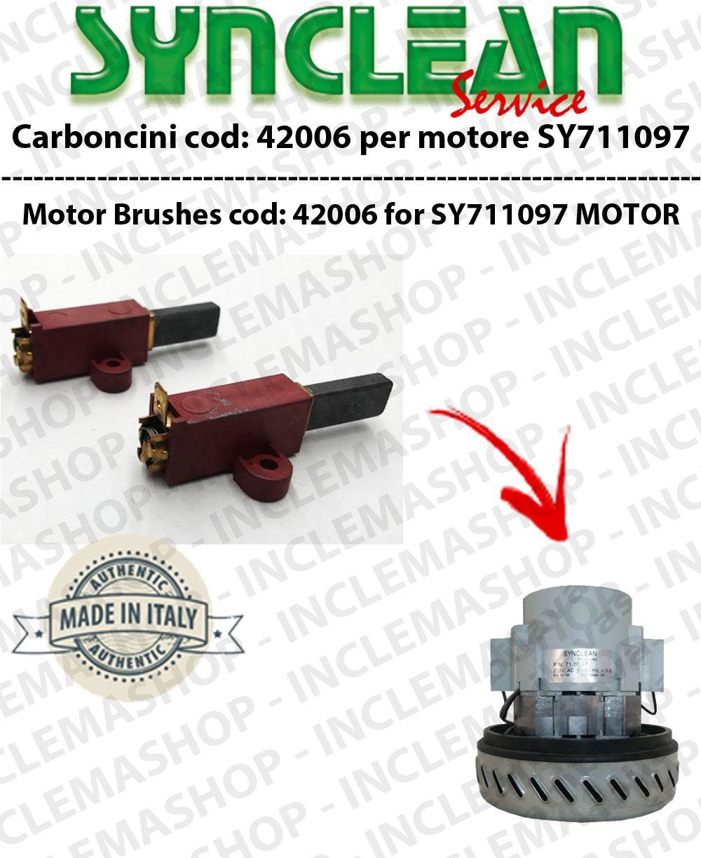 42006 Paar Motorbürsten für motor SYNCLEAN SY711097
