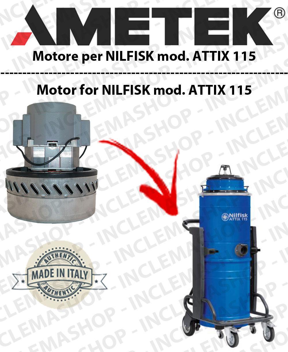 ATTIX 115 moteur aspiration AMETEK pour aspirateurs NILFISK