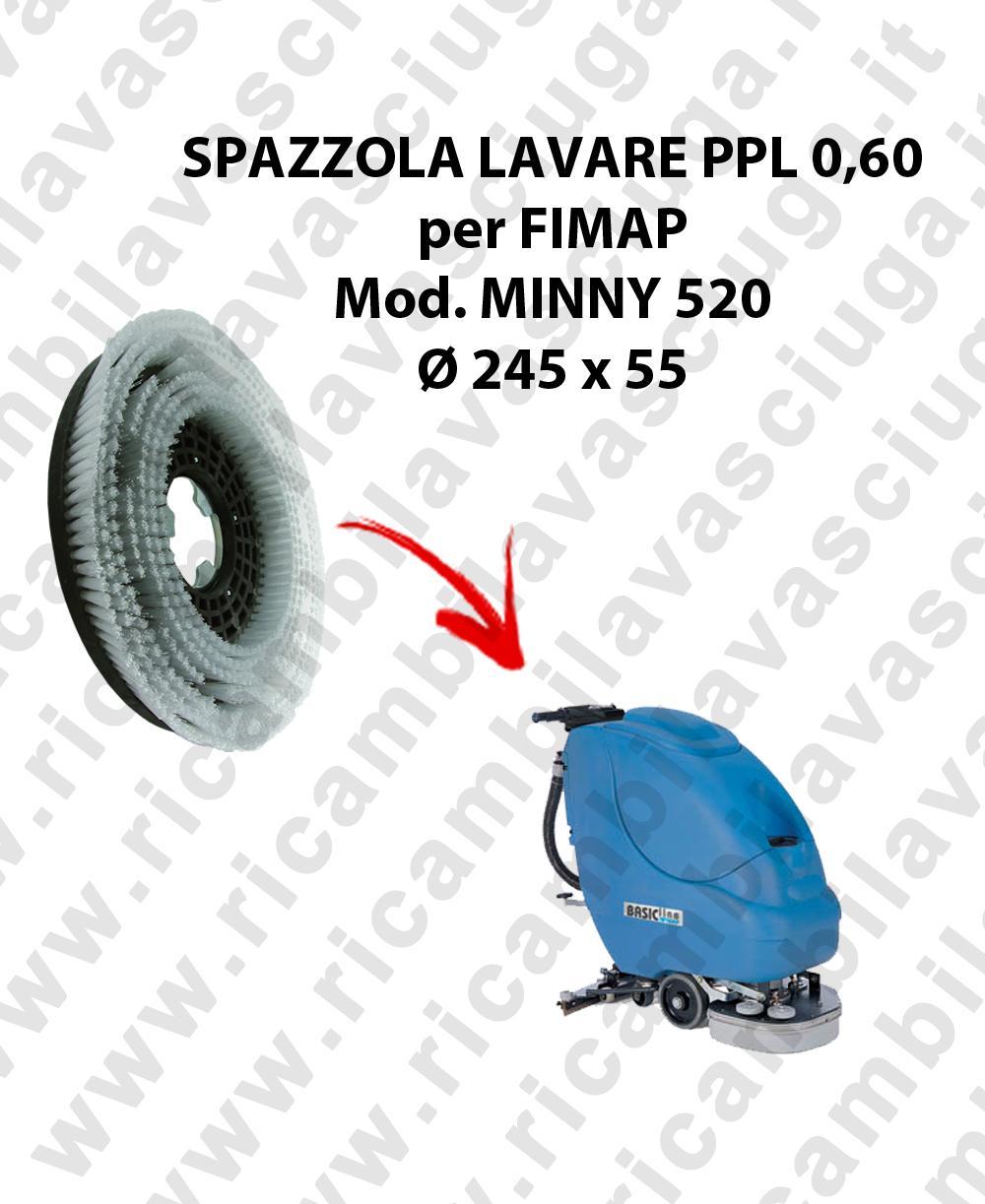 Brosse de laver  pour autolaveuses FIMAP modelle MINNY 520 diamétre  245 x 55 PPL 0,60