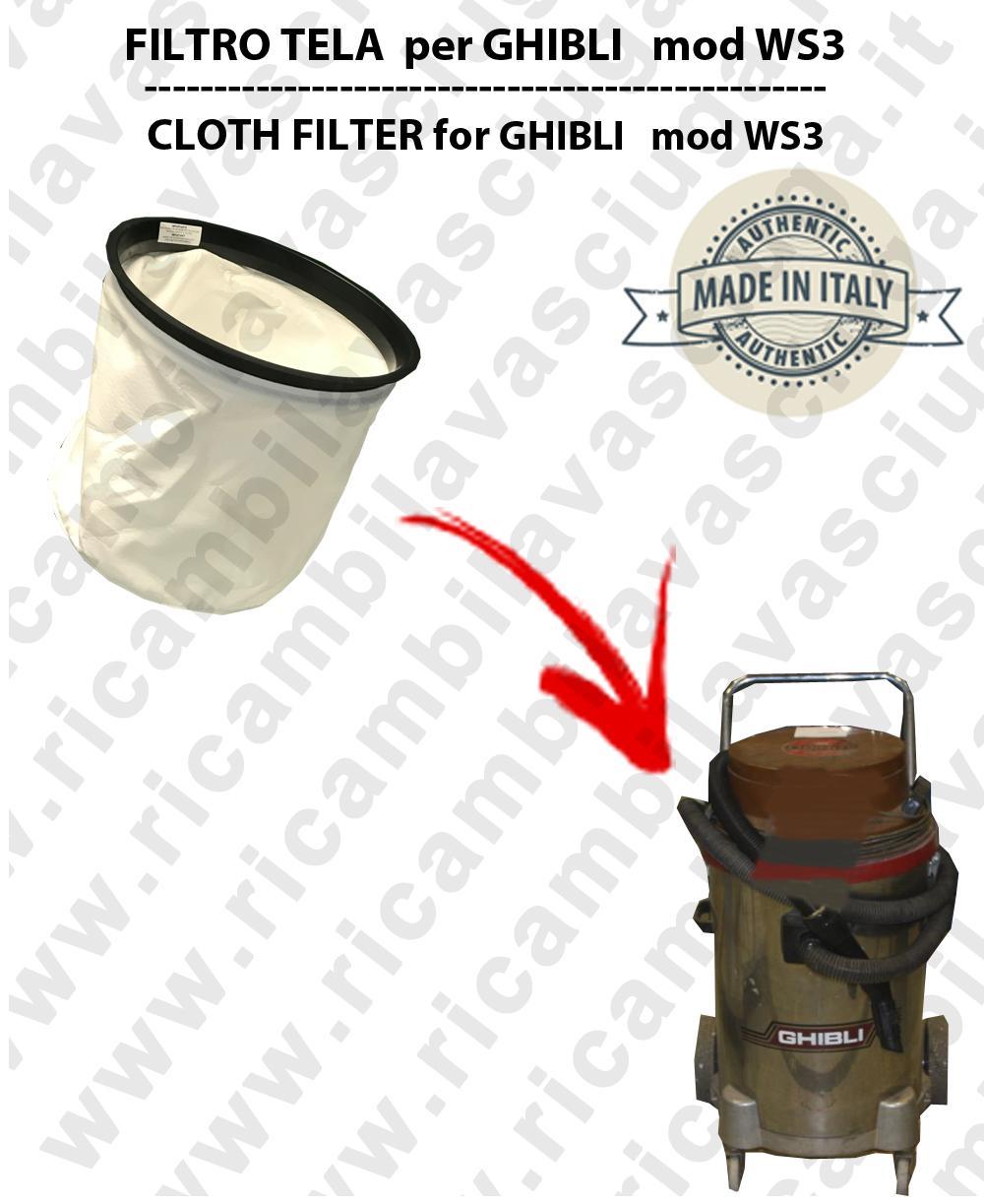 Filtre de toile pour aspirateurs GHIBLI modele WS3