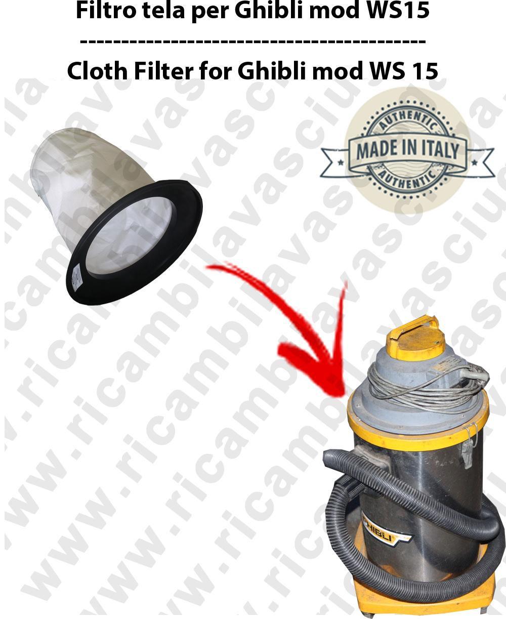 Filtre de toile pour aspirateurs GHIBLI modelle WS15