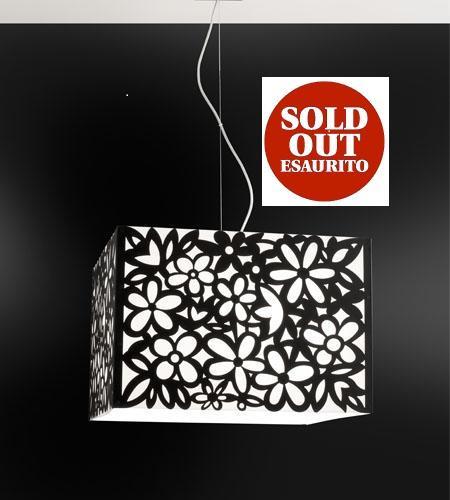 Lampadario MELANTHA nero 50x50 E27 | LED