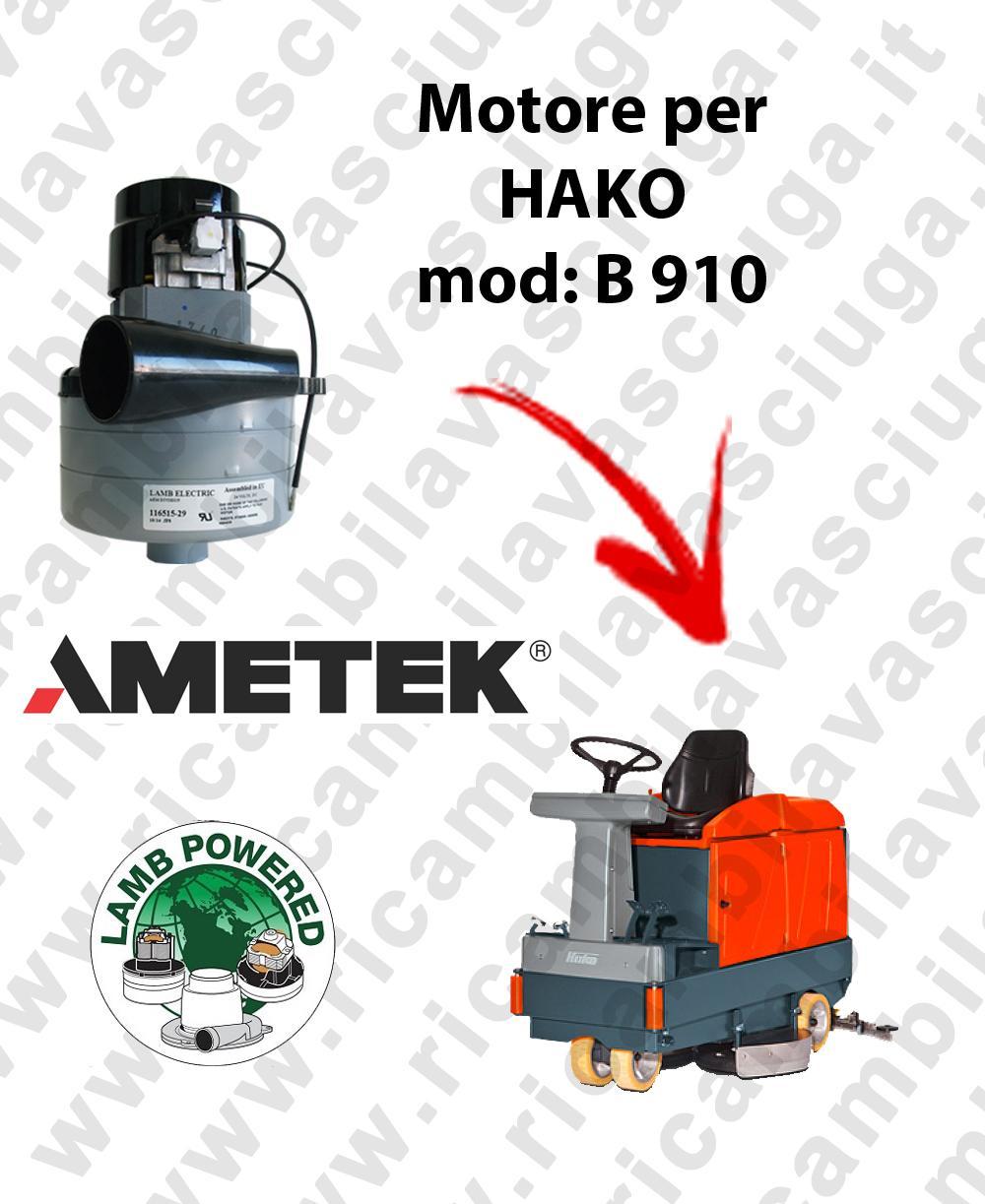 B 910 moteur LAMB AMETEK di aspiration pour autolaveuses HAKO
